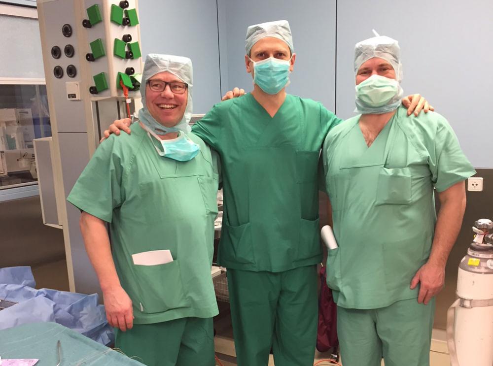 Die Kollegen aus Finnland mit Dr. Wojtas