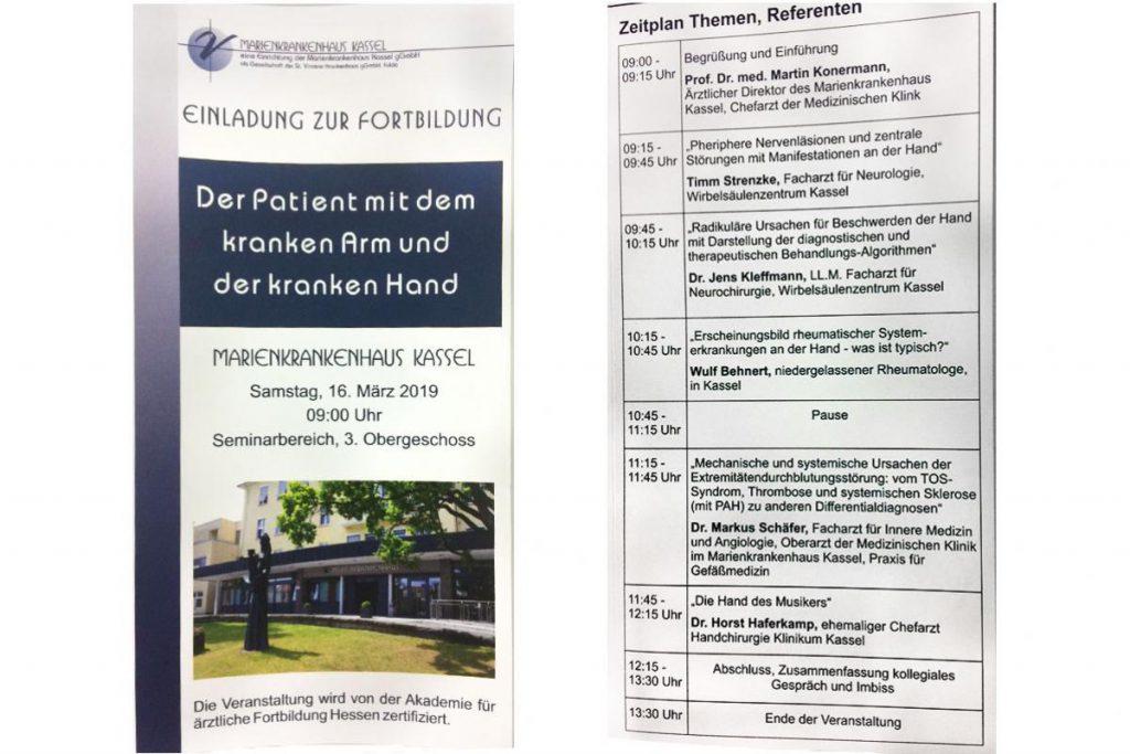 Herr Strenzke und Dr. Kleffmann referieren im Marienkrankenhaus