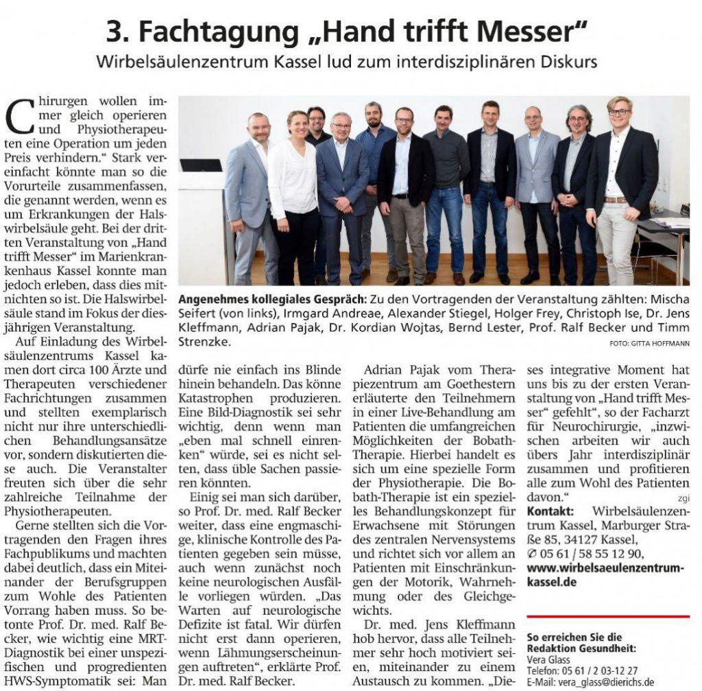 HNA-Artikel: Hand trifft Messer
